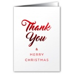 Thank You & Merry Xmas - Greeting Card - Fancy