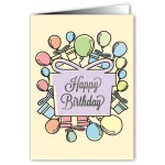 Happy Birthday Gifts - Greeting Card