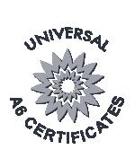 Universal A6 Certificates