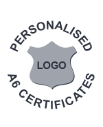 Personalised A6 Certificates