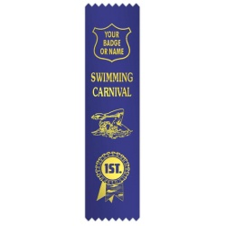 Swimming carnival with figures & rosette