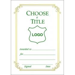 Certificate A6 - Border F (Design 3)