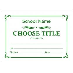 Certificate A7 - (Design S)