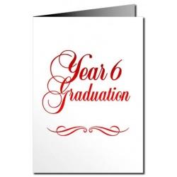 Year 6 Graduation Card - Metallic Print