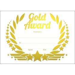 Gold Award Wreath Metallic Generic A5