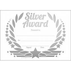 Silver Award Wreath Metallic - A6