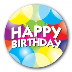 Happy Birthday - 25mm Sticker