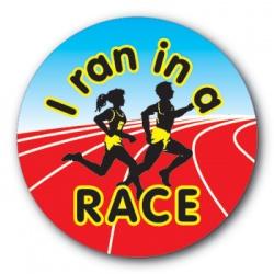 I ran in a race - 35mm Sticker