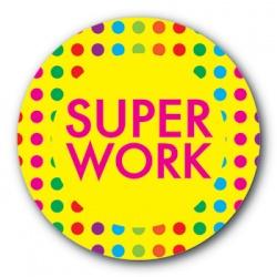 Super Work - 35mm Sticker