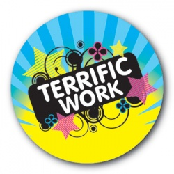Terrific Work - 35mm Sticker