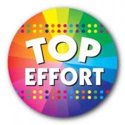 Top Effort - 35mm Sticker