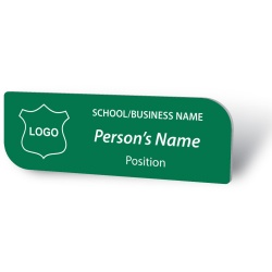Engraved Name Badge - Leaf