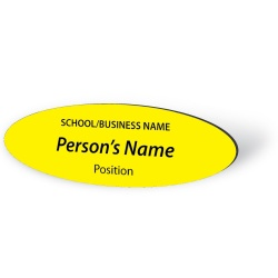 Engraved Name Badge - Oval