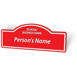 Engraved Name Badge - Street Sign