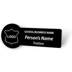 Engraved Name Badge - with Logo Circle