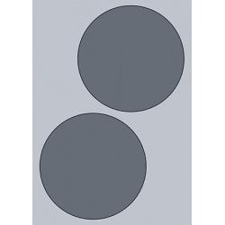 Circle Label - 140mm (2/Sheet)