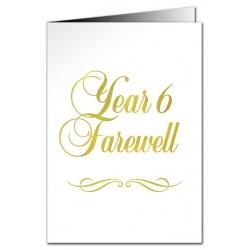 Year 6 Farewell Card - Metallic Print