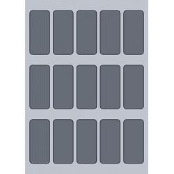 Rectangle Label - 34x75mm (15/Sheet)