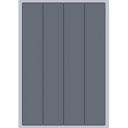 Rectangle Label - 48x284mm (4/Sheet)