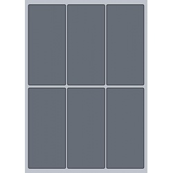 Rectangle Label - 64x138mm (6/Sheet)