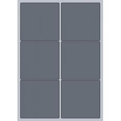 Rectangle Label - 95x93mm (6/Sheet)