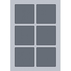 Square Label - 80x80mm (6/Sheet)