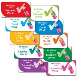 Teacher Says Fantastic Work! - Sticker