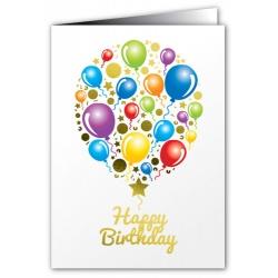 Happy Birthday Balloons - Greeting Card