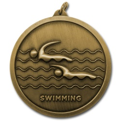 Swimming 60mm Medal