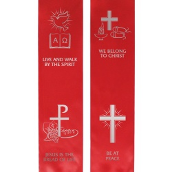 Confirmation Stole - Red