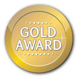 Gold Award - 35mm Sticker